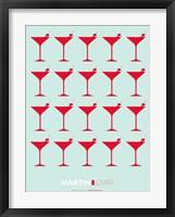 Framed Martini Lover Red