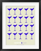 Framed Martini Lover Blue