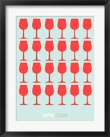 Framed Wine Lover Red