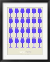 Framed Wine Lover Purple