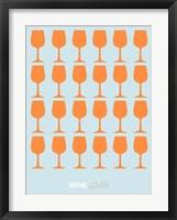 Framed Wine Lover Orange
