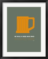 Framed Orange Beer Mug