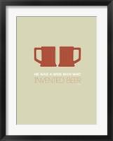Framed Two Beer Mugs