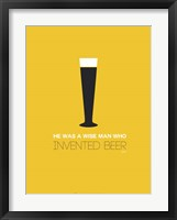 Framed Beer Glass Yellow