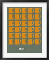 Framed Yellow Beer Mugs