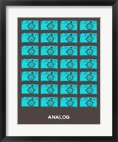 Framed Analog Blue Camera