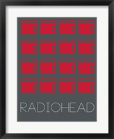 Framed Radiohead Red