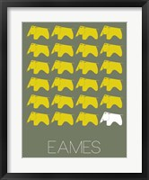 Framed Eames Yellow Elephant 2