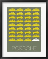 Framed Porsche Yellow