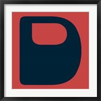 Framed Letter D Blue