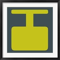 Framed Letter I Yellow