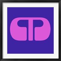 Framed Letter M Purple