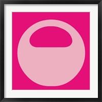 Framed Letter O Pink