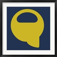 Framed Letter Q Yellow