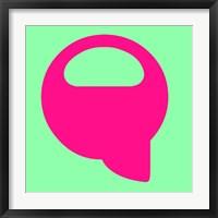Framed Letter Q Pink