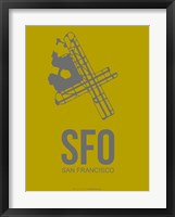 Framed SFO San Francisco 3