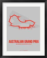 Framed Australian Grand Prix 1