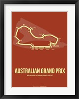 Framed Australian Grand Prix 3