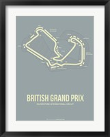 Framed British Grand Prix 1