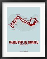 Framed Monaco Grand Prix 3