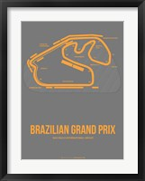 Framed Brazilian Grand Prix 1
