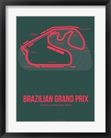 Framed Brazilian Grand Prix 2