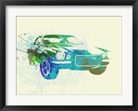Framed Chevy Camaro Watercolor