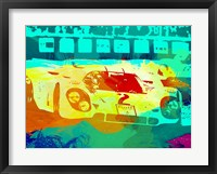 Framed Porsche 917 Watercolor