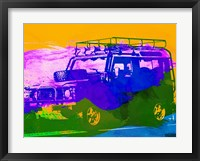 Framed Land Rover Defender