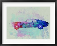 Framed Ford Mustang Watercolor 1