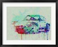 Framed Porsche 911 Watercolor 2