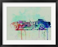 Framed Ferrari Testa Rossa Watercolor 2