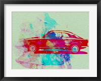Framed Alfa Romeo  Watercolor 2