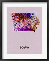 Framed Iowa Color Splatter Map