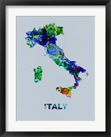 Framed Italy Color Splatter Map