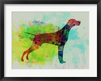 Framed Setter Pointer Watercolor