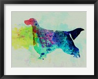 Framed Gordon Setter Watercolor