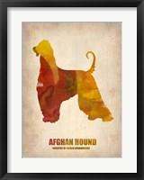 Framed Afghan Hound