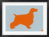 Framed Springer Spaniel Orange