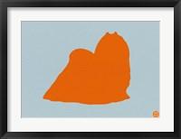 Framed Maltese Orange