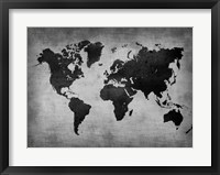 Framed World  Map 8