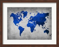 Framed World  Map 10