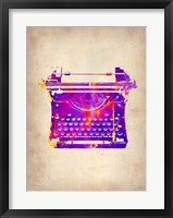 Framed Vintage Typewriter 1