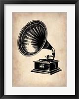 Framed Gramophone 1