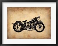 Framed Vintage Motorcycle 1