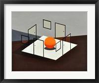 Framed B Orange