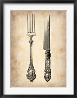 Framed Antique Knife and Fork