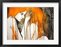 Framed Girl with Orange Hair