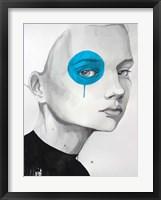 Framed Blue Dot