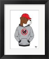 Framed Boxer Dog In City Style